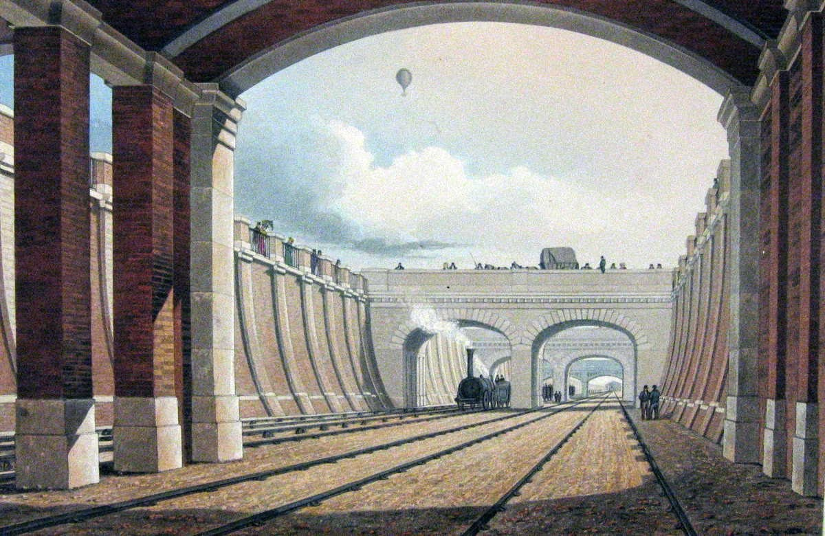 [Image of View towards Euston of Camden Incline from under Hampstead Road Bridge]