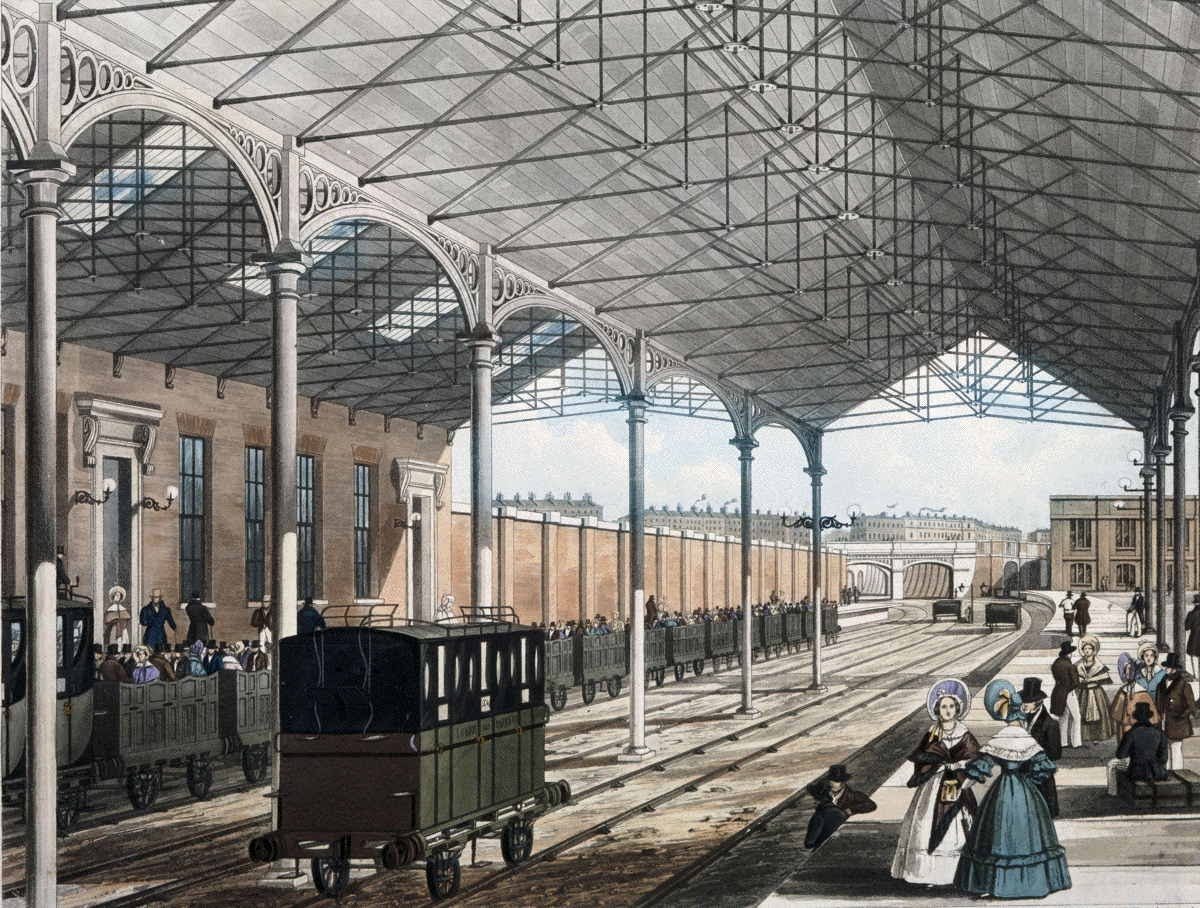 [Image of The Station at Euston Square, 1837]