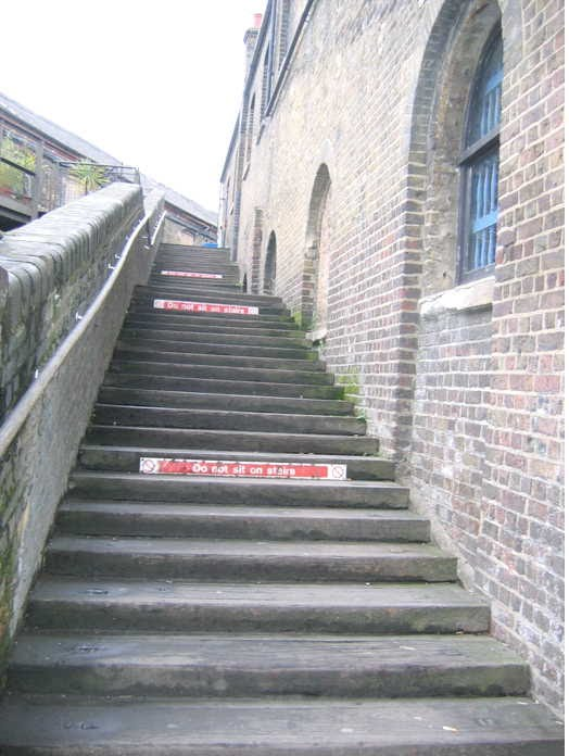 [Image of Ramp on north side of Long Stable up to gallery of The Stables]