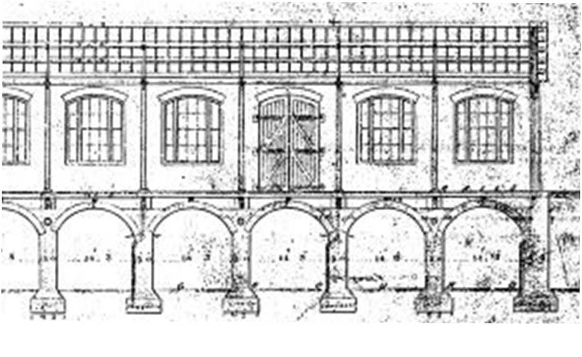 [Image of Main vaults supporting Construction Shop, 1847]