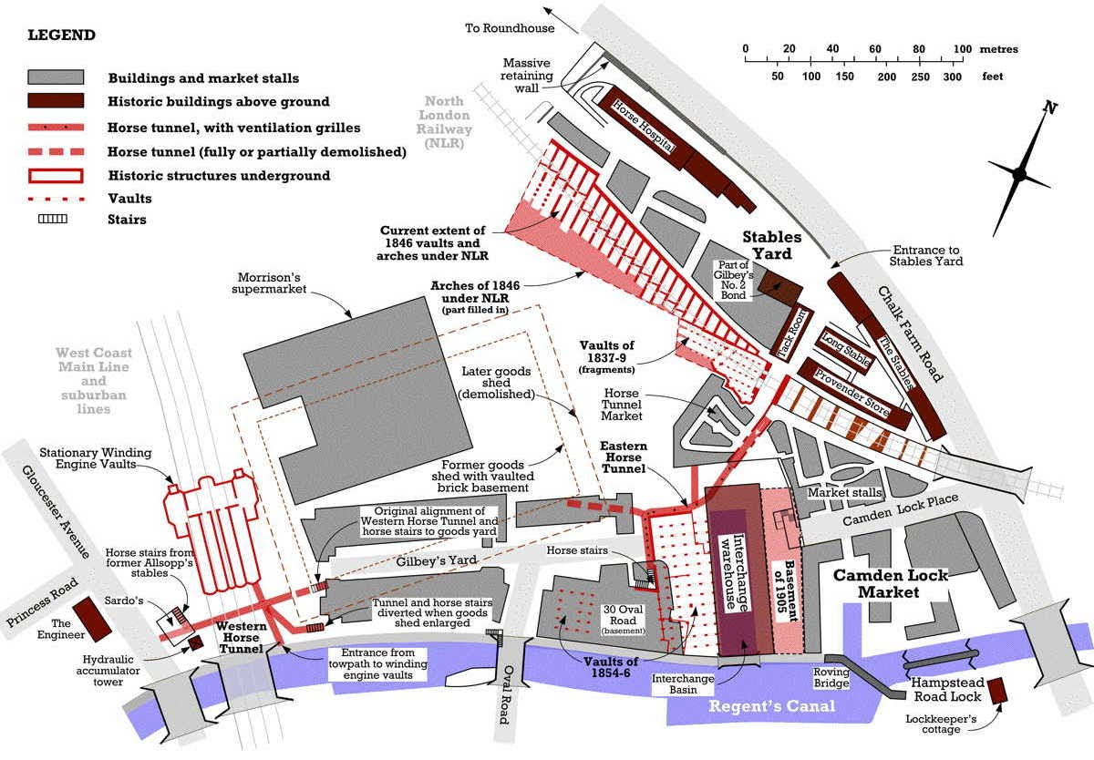 [Image of Schematic map of heritage features in former Goods Depot]