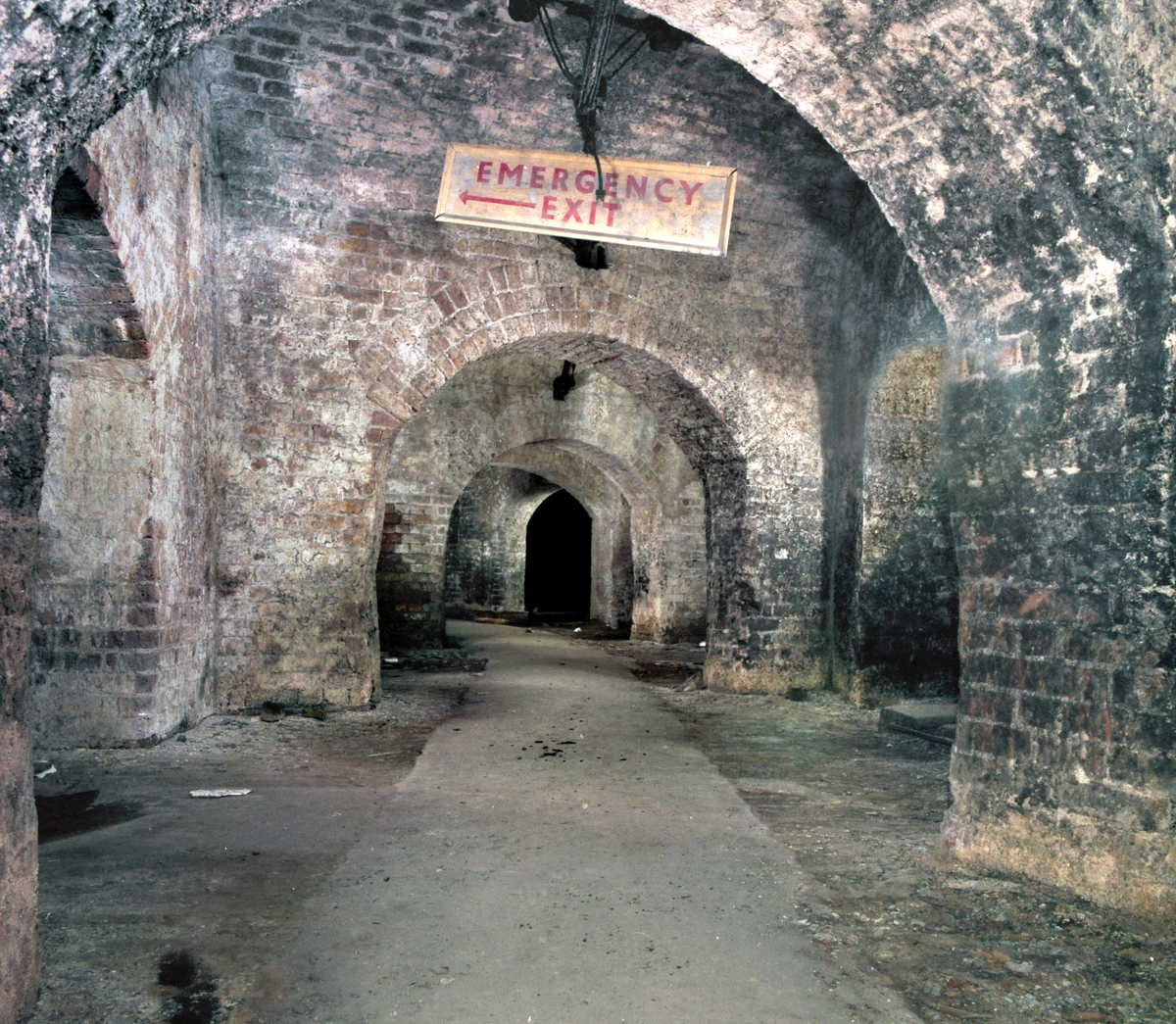[Image of Vaults of 1839 before Stables Market developments]