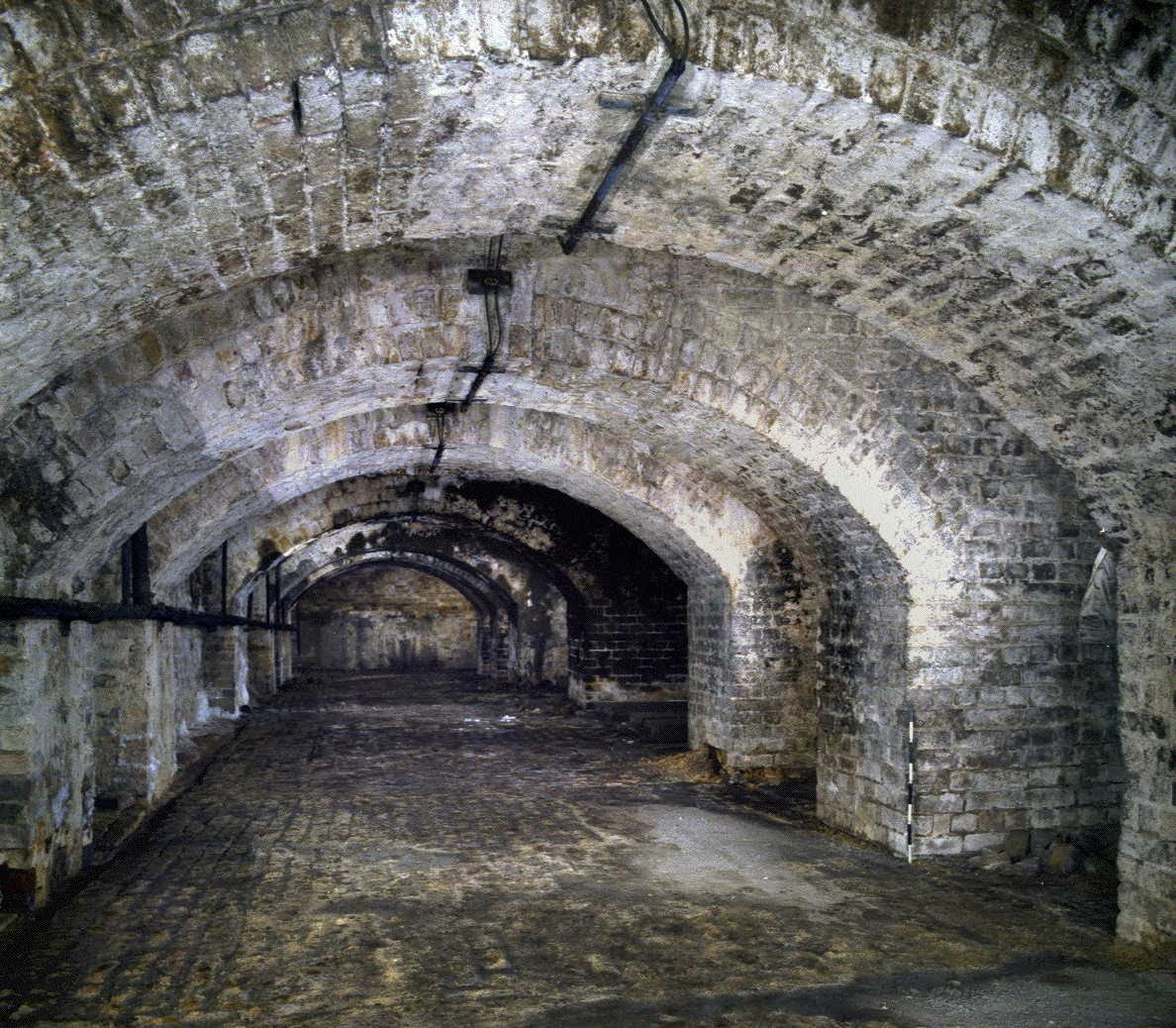 [Image of Transverse arched openings in main vaults of 1856]